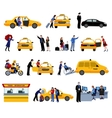 Set Of Taxi Service Icons vector image vector image