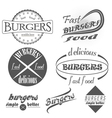 Set of vintage fast food restaurant signs panel vector image