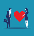 sincerity business people giving heart for