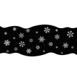 snow on black background christmas snowflakes on vector image