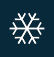 snowflake simple icon vector image vector image