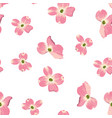 spring autumn flowers seamless pattern vector image vector image