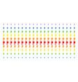tulip shape halftone spectrum pattern vector image vector image