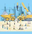 under construction design vector image vector image