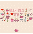 Valentines day decorations Hand drawn elements vector image vector image