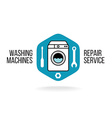 Washing machine logo vector image vector image
