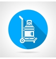 Water delivering blue round icon vector image
