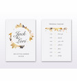 wedding invitation cards with gold leafs save the vector image vector image