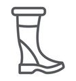 woman boots line icon footwear and fashion shoes vector image vector image