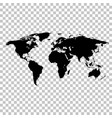 world map black colored silhouette earth vector image vector image