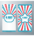 4 july card template vector image