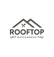 abstract house roff logo rooftop cafe vector image vector image