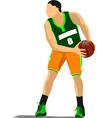 al 1110 basketball 03 vector image vector image