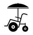 beach wheelchair vector image vector image