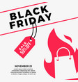 black friday sale social media post flat of vector image vector image