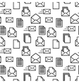 Black icons of documents and envelopes on white vector image vector image