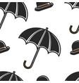 bowler hat and umbrella british symbols seamless vector image