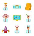 breadwinner icons set cartoon style vector image vector image