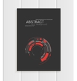 brochure in abstract style with red shapes vector image vector image