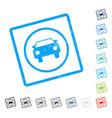 car icon rubber watermark vector image vector image