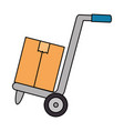 cart with box delivery service vector image vector image