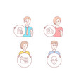 certificate euro money and quick tips icons face vector image vector image
