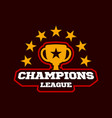 champion gold cup champion sports league logo vector image