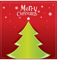 Christmas green design on red background vector image vector image