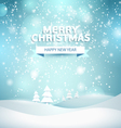 Christmas night landscape vector image vector image