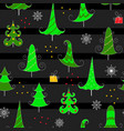christmas seamless pattern on black background vector image vector image