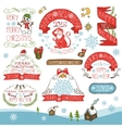 ChristmasNew Year 2016 decorationslabels kit vector image vector image
