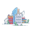 City color apartment house vector image vector image