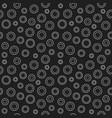 cog wheel dark seamless pattern vector image