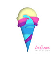 cold sweet ice cream silhouette cut out paper art vector image vector image