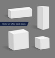 collection of various white blank boxes vector image vector image
