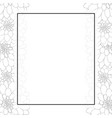 dahlia outline banner card border style 2 vector image vector image