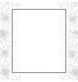 dahlia outline banner card border style 2 vector image