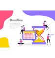deadline concept arrange plan with hourglass vector image