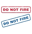 Do Not Fire Rubber Stamps vector image vector image