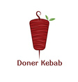 doner kebab with leaves design template vector image vector image