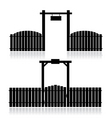 fence with gate vector image vector image