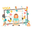 flat yoga concept vector image