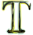 font letter T vector image vector image