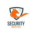 fox security logo vector image vector image