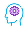 gear cogwheel mechanism in silhouette mind vector image