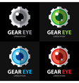 Gear eye symbol icon vector image