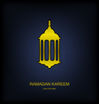 Golden Fanoos on Dark Background for Ramadan vector image vector image