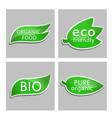 green sticker eco friendly bio pure organic vector image vector image
