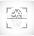 icon fingerprint scan data security vector image