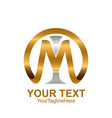 initial letter mi or im logo template colored vector image vector image